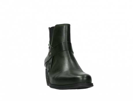 wolky ankle boots 02875 silio 30730 forest green leather_6