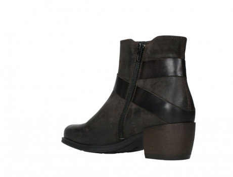 wolky ankle boots 02875 silio 45305 dark brown suede_16