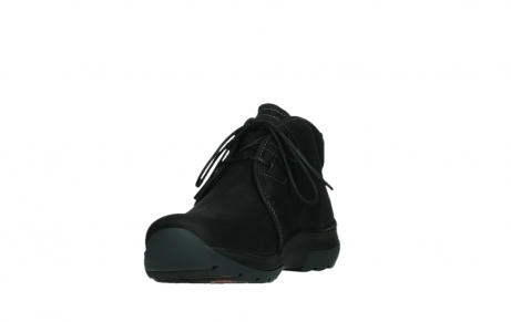 wolky lace up boots 03025 dub 11001 black nubuck_9