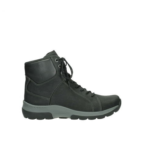 wolky lace up boots 03026 ambient 11000 black nubuck