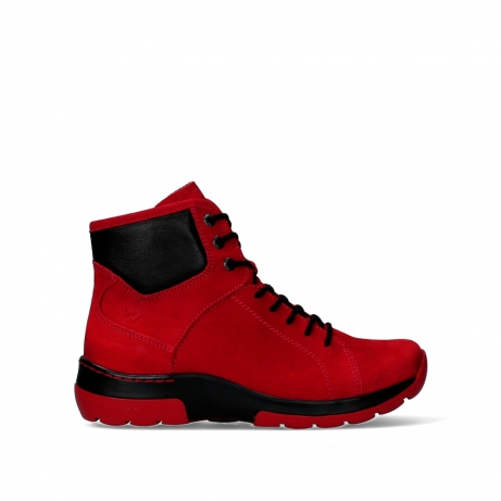 wolky lace up boots 03026 ambient 11505 darkred nubuckleather