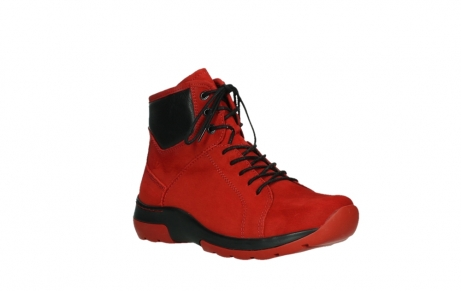 wolky lace up boots 03026 ambient 11505 darkred nubuckleather_4