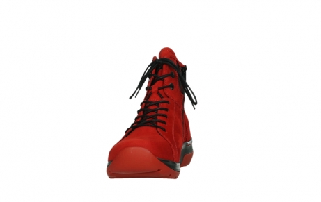 wolky lace up boots 03026 ambient 11505 darkred nubuckleather_8