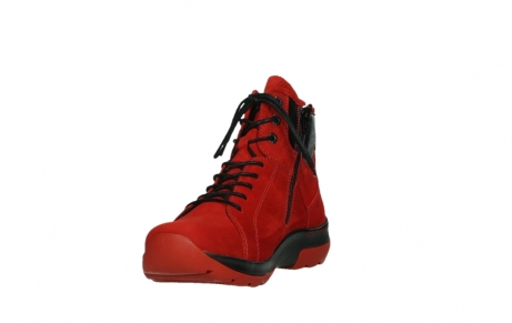 wolky lace up boots 03026 ambient 11505 darkred nubuckleather_9