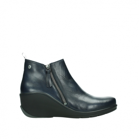 wolky ankle boots 03875 anvik 30800 blue leather