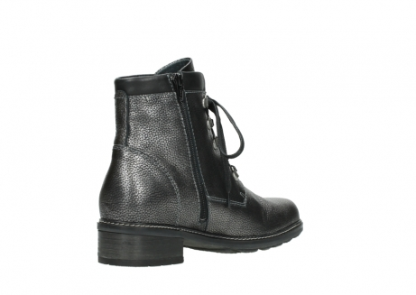 wolky lace up boots 04475 ronda 81280 metal grey leather_10