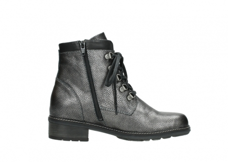 wolky lace up boots 04475 ronda 81280 metal grey leather_13
