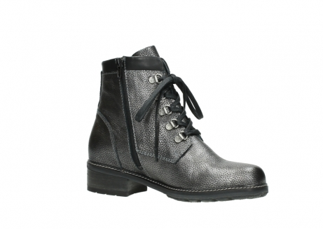 wolky lace up boots 04475 ronda 81280 metal grey leather_15
