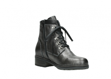 wolky lace up boots 04475 ronda 81280 metal grey leather_16