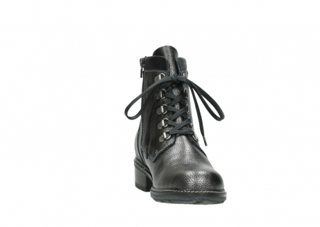 wolky lace up boots 04475 ronda 81280 metal grey leather_18