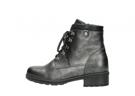 wolky lace up boots 04475 ronda 81280 metal grey leather_2