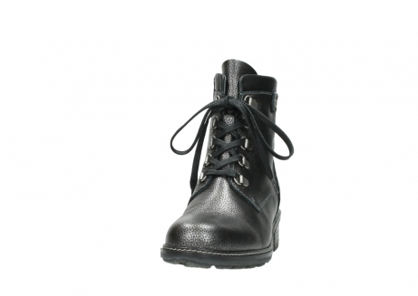 wolky lace up boots 04475 ronda 81280 metal grey leather_20