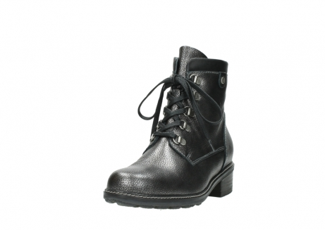 wolky lace up boots 04475 ronda 81280 metal grey leather_21