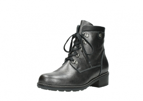 wolky lace up boots 04475 ronda 81280 metal grey leather_22