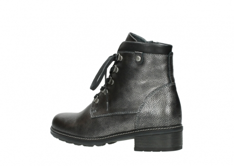 wolky lace up boots 04475 ronda 81280 metal grey leather_3