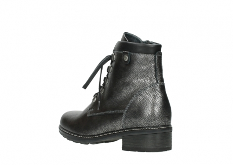 wolky lace up boots 04475 ronda 81280 metal grey leather_4