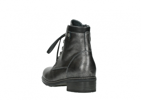 wolky lace up boots 04475 ronda 81280 metal grey leather_5