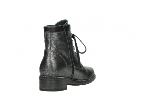 wolky lace up boots 04475 ronda 81280 metal grey leather_9