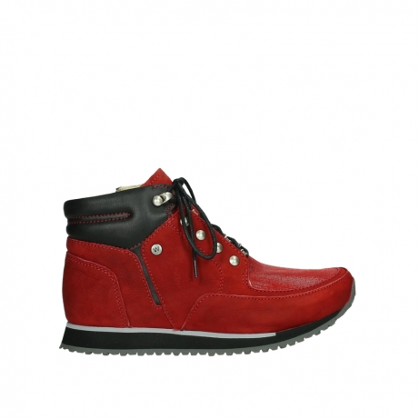 wolky lace up boots 05808 e funk 11505 darkred stretchleather