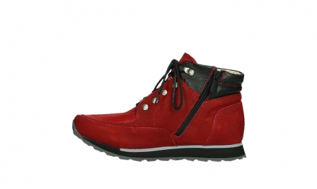 wolky lace up boots 05808 e funk 11505 darkred stretchleather_13