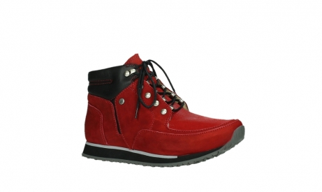 wolky lace up boots 05808 e funk 11505 darkred stretchleather_3