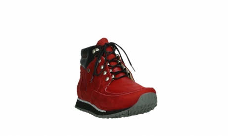 wolky lace up boots 05808 e funk 11505 darkred stretchleather_5