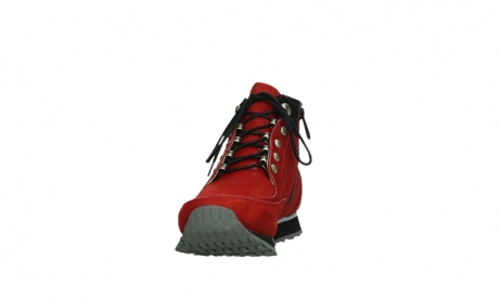 wolky lace up boots 05808 e funk 11505 darkred stretchleather_8