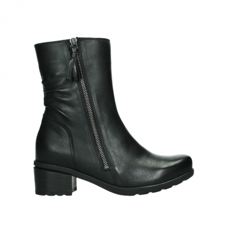 wolky mid calf boots 07501 skytree 20000 black leather