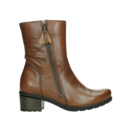 wolky mid calf boots 07501 skytree 20430 cognac leather
