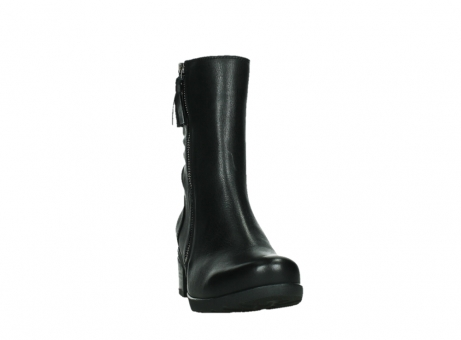 wolky mid calf boots 07501 skytree 20000 black leather_6