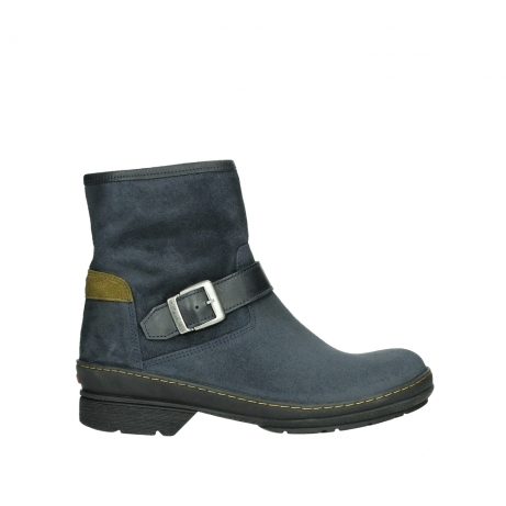 wolky ankle boots 07641 nitra 45800 blue suede