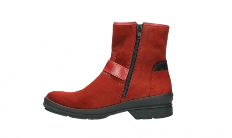 wolky ankle boots 07641 nitra 45505 darkred suede_13