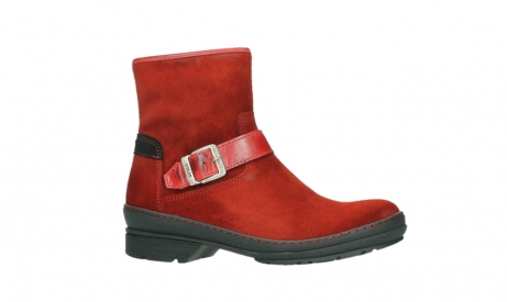 wolky ankle boots 07641 nitra 45505 darkred suede_2