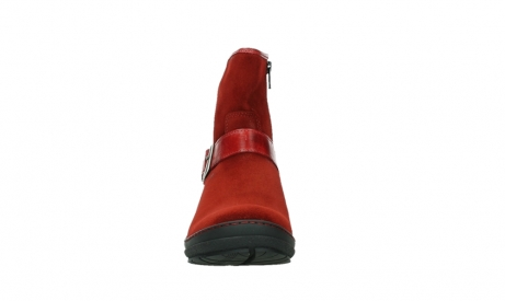 wolky ankle boots 07641 nitra 45505 darkred suede_7