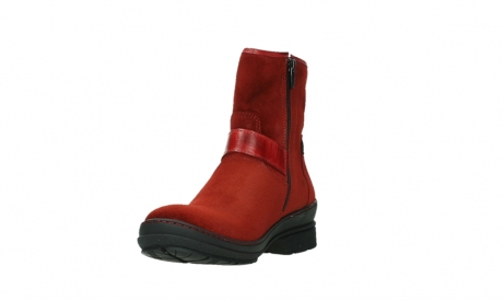 wolky ankle boots 07641 nitra 45505 darkred suede_9
