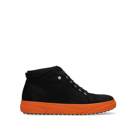wolky ankle boots 02076 compass 11056 black orange nubuck