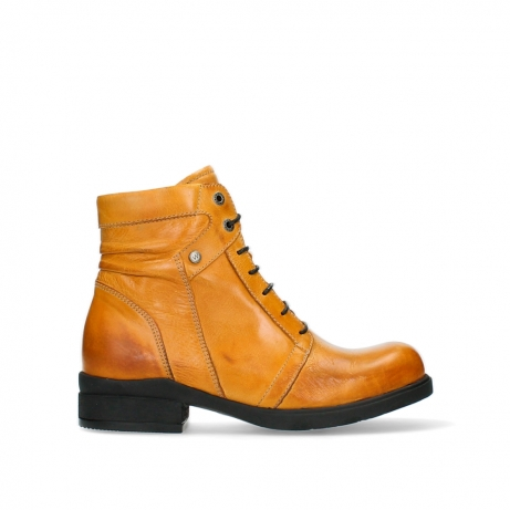 wolky ankle boots 02629 center xw 30935 pumpkin orange leather