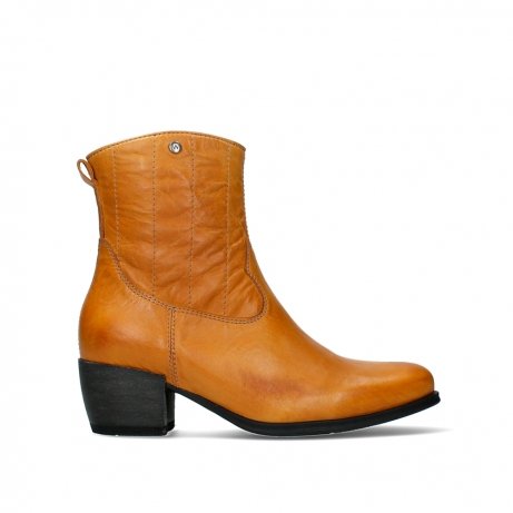wolky ankle boots 02878 lubbock 30935 pumpkin leather