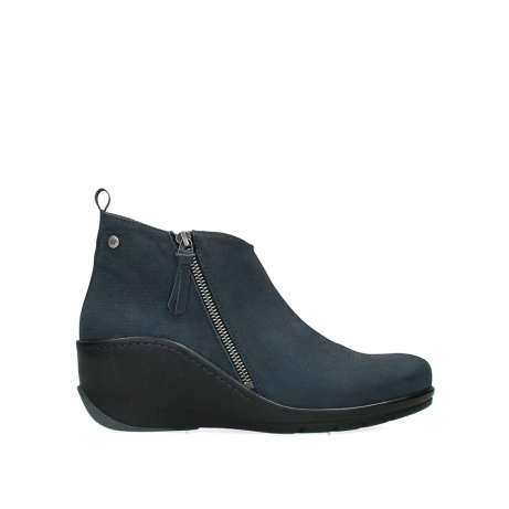 wolky ankle boots 03875 anvik 15800 blue nubuck