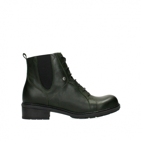wolky ankle boots 04481 volga xw 30730 forest green leather