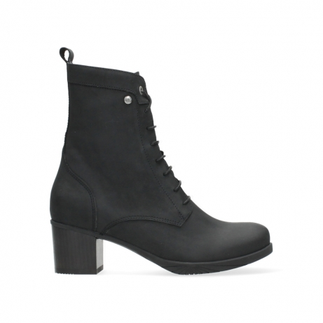 wolky ankle boots 05050 sarah 10000 black nubuck
