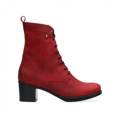 wolky ankle boots 05050 sarah 10505 dark red nubuck