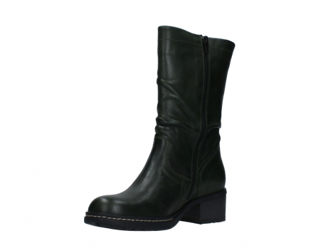 wolky mid calf boots 01261 edmonton 30730 forest green leather_10
