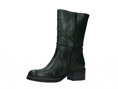 wolky mid calf boots 01261 edmonton 30730 forest green leather_11