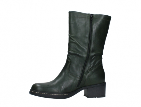 wolky mid calf boots 01261 edmonton 30730 forest green leather_12