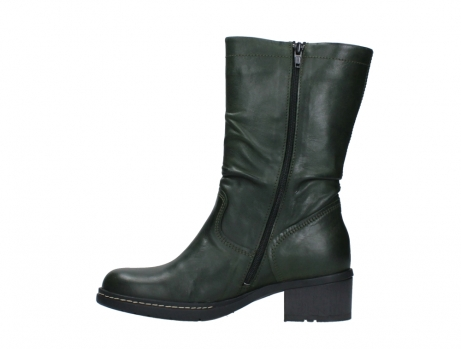 wolky mid calf boots 01261 edmonton 30730 forest green leather_13