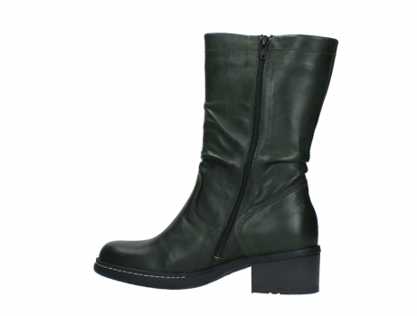 wolky mid calf boots 01261 edmonton 30730 forest green leather_14