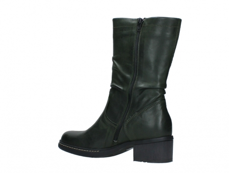 wolky mid calf boots 01261 edmonton 30730 forest green leather_15