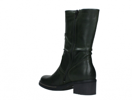 wolky mid calf boots 01261 edmonton 30730 forest green leather_16