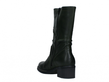 wolky mid calf boots 01261 edmonton 30730 forest green leather_17